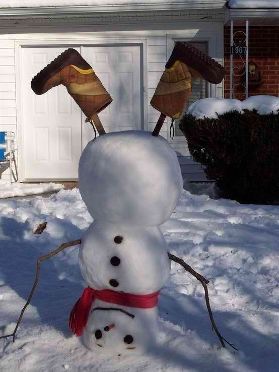 Веселые снеговики своими руками из снега