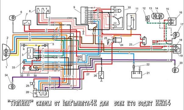 схема подключения указателя