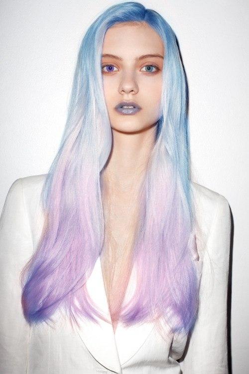 Сине-розовые волосы