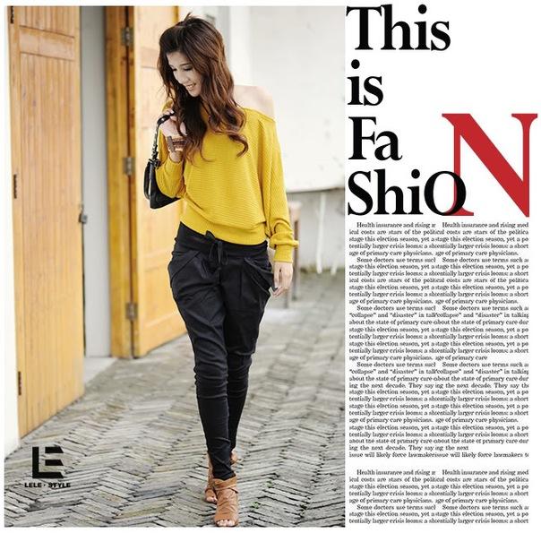 Черные модные зауженные брюки (размер L) - EuroModa.Kz.