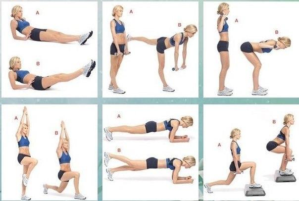 Программа тренировок для похудения в домашних условиях для девушек неделя 3
