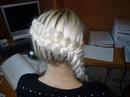 Описание: ажурные косы на короткие волосы.