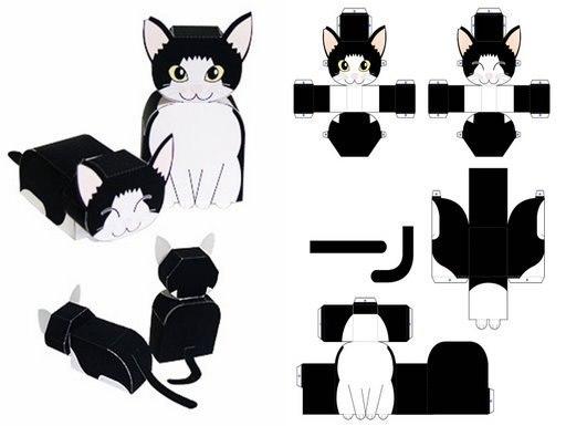 Схема коробки в виде мышки