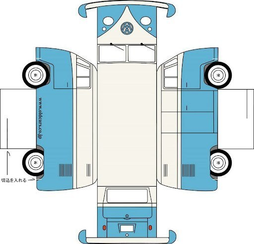 Схема коробки в виде машины