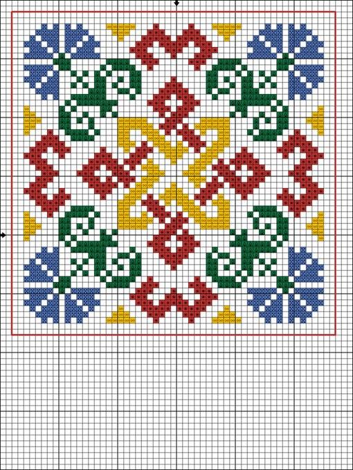 Вышивка крестиком квадратами