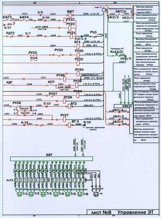 Электрическая схема Тэп 70