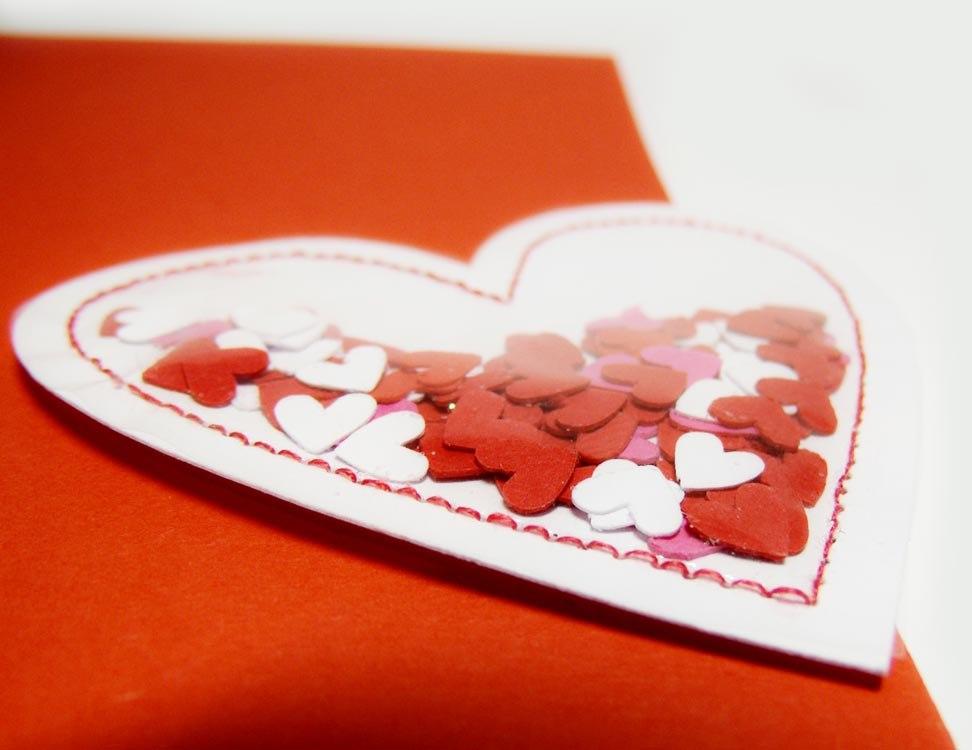 Как сделать открытку виде сердечка для бабушки