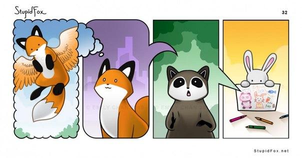 Комиксы лисичка и кот фото 520-523
