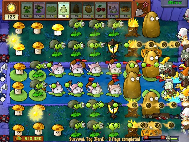 Игра зомби против растений играть