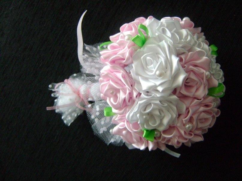 Свадебные цветы из ленты своими руками мастер класс