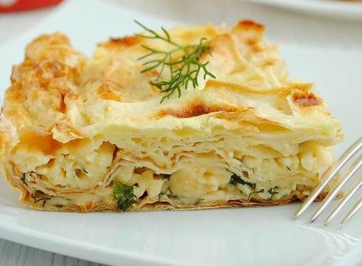 Пирог с зеленью и сыром из лаваша рецепт с