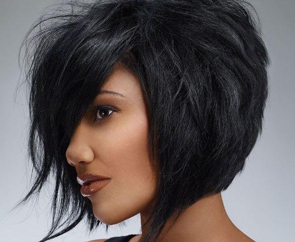 Фото женских стрижек на черные волосы