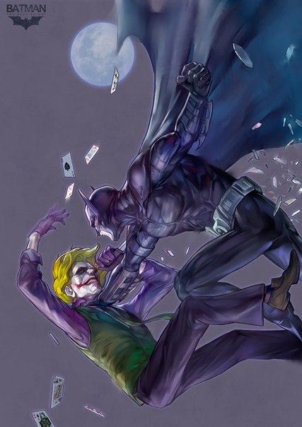 Джокер трахнул бэтмена этом