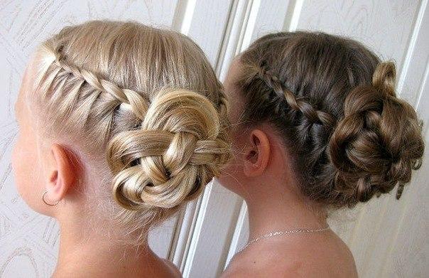 причёски на выпускной 4 класс фото поэтапно