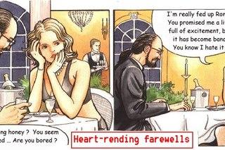 Heart-rending farewells