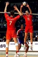 Впервые в матчах нашего волейбольного чемпионата на площадке соперничали два легионера из дальнего зарубежья...