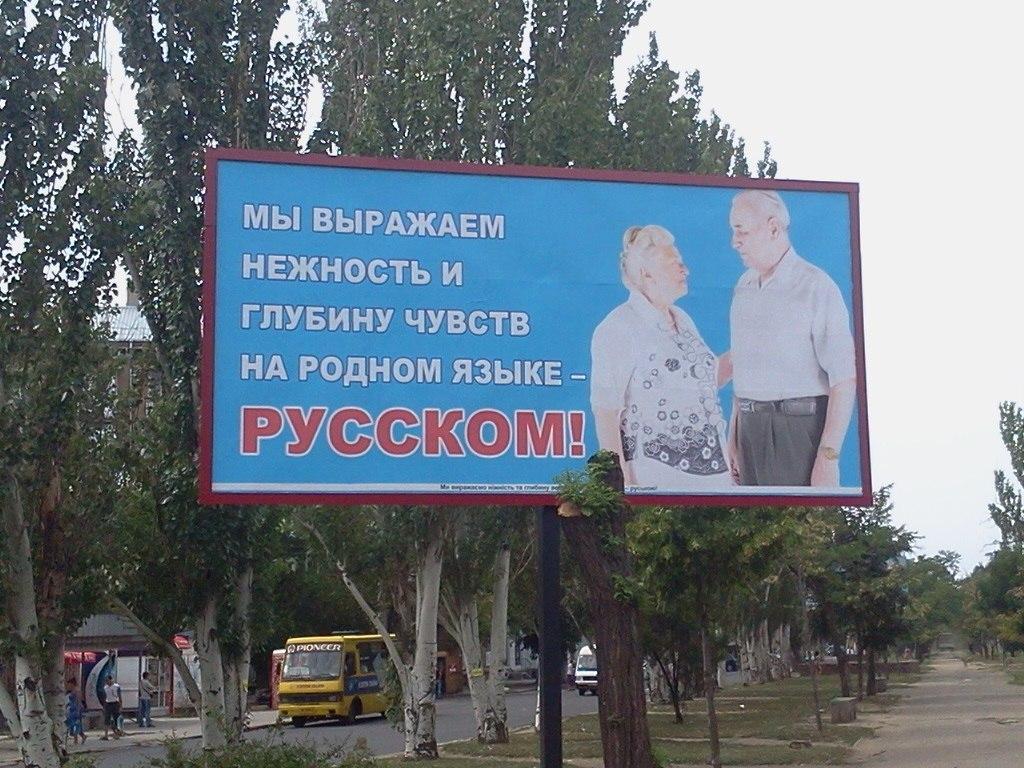 Ми виказуємо свої почуття рідною мовою - російською