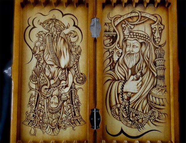 Рисунки на нардах своими руками