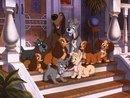 """Дружная семья, собаки, для детской, мультфильм.  Предпросмотр схемы вышивки  """"Дружная семья """" ."""