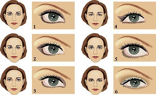 как наносить макияж на глаза видео