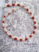 Украшения из бисера, бусин и камней, роспись.  Жуки, цветы и грибы-медузы.