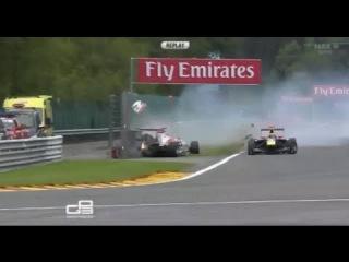 GP3 - Spa Belgium 2013 - Monstrously Crash Sainz Jr. & Harvey