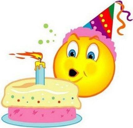 Поздравление с днем рождения смайлики