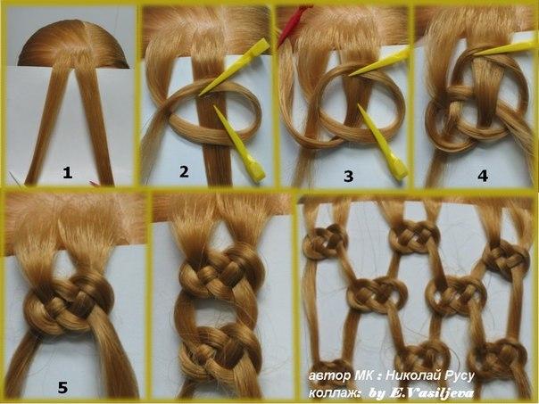 Технология плетения косичек в