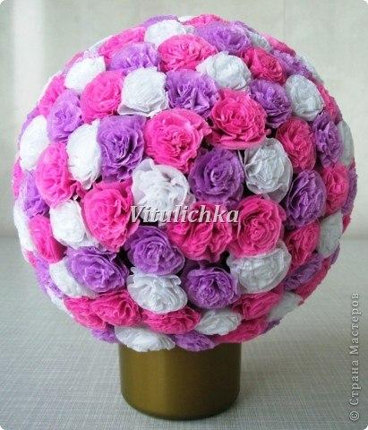 Цветочные шары мк из крепбумаги