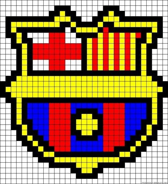 Sasori no Danna пишет.  Помогите пожалуйст а найти схемку с логотипом Барселоны.  Буду очень благодарна!