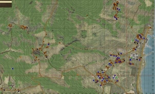 Онлайн карта Dayz standalone