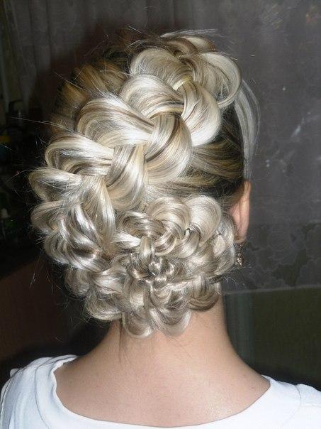 Красивые причёски с колосками на длинные волосы