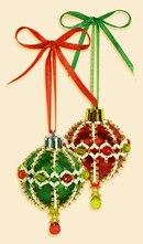 """Новогодние украшения  """"Шары """", набор для плетения из бисера."""