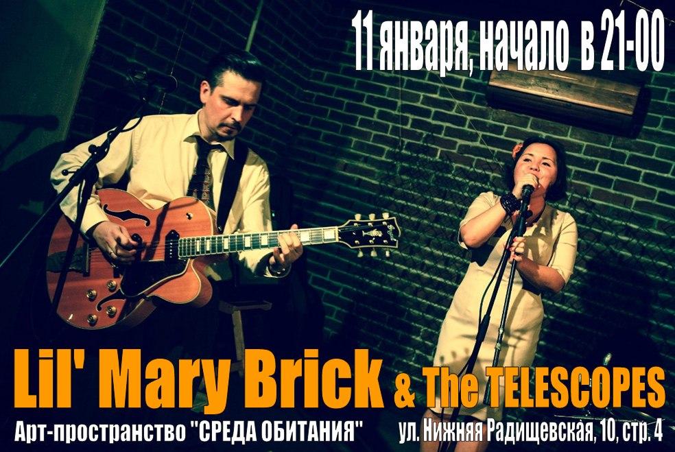 11.01 Lil' Mary Brick & The Telescopes!