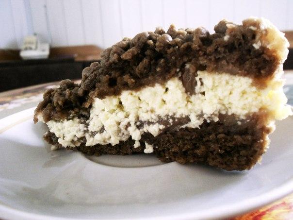 Тертый пирог с какао