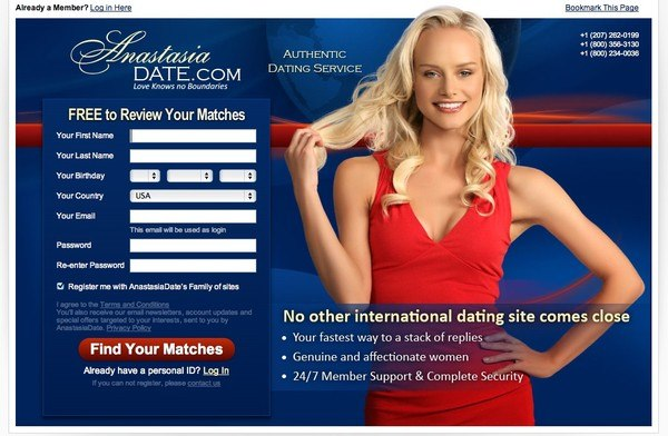 Anastasia Dating Site Commercial