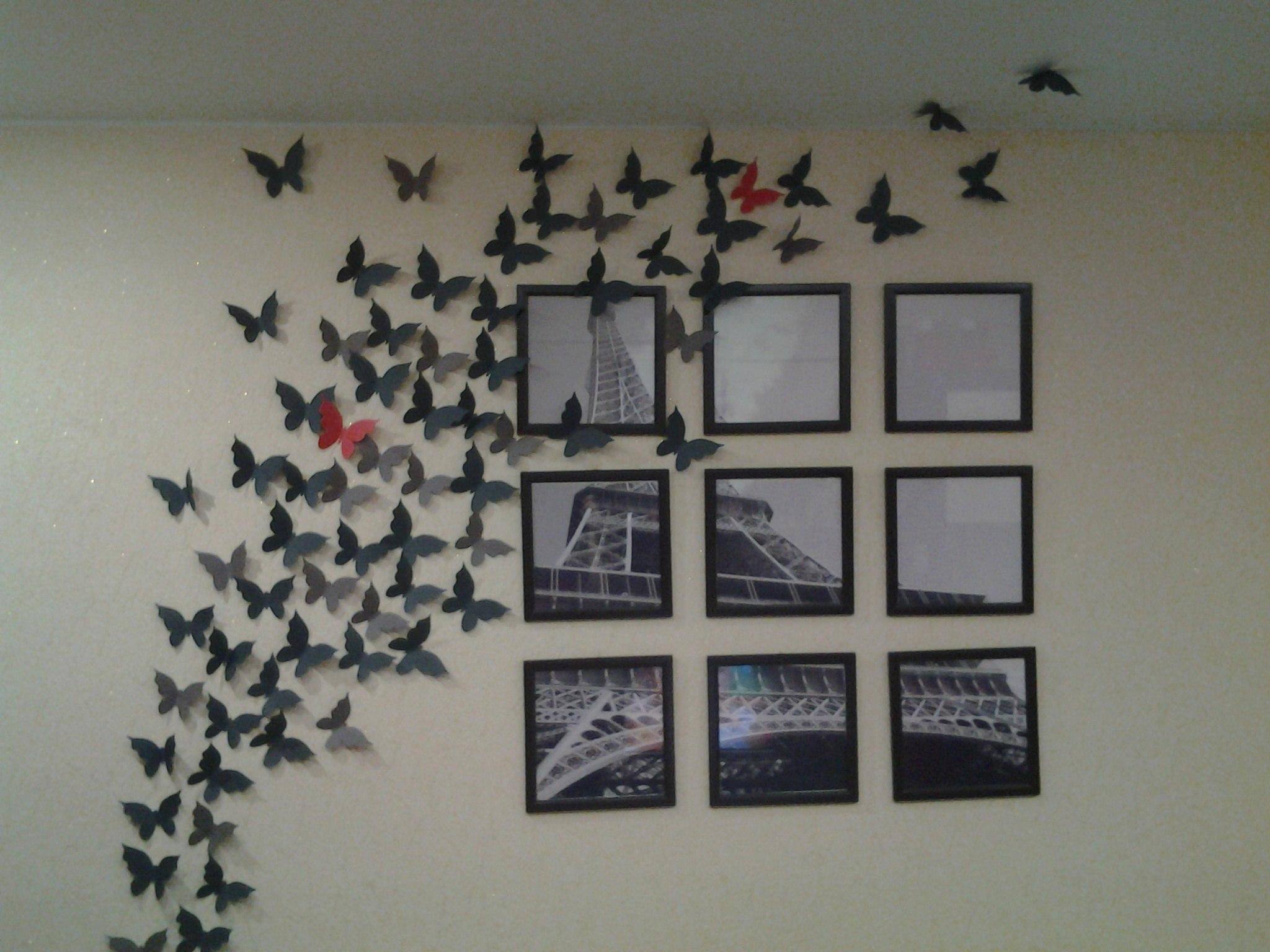 Бабочки интерьере своими руками