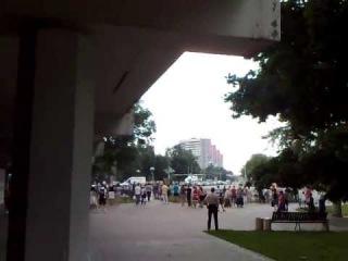 Авария в Ознобишино, Вертолет МЧС сел в центре Подольска