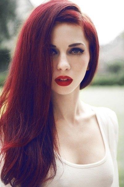 Цвет волос красно рыжий