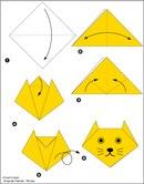Оригами кошка схема - Схемы оригами из бумаги.