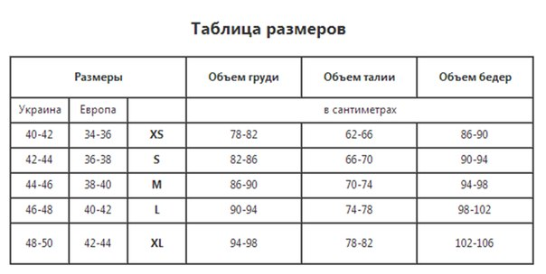 Размер одежды таблица для детей китай