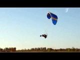 Удивительный гибрид мотоцикла, аэросаней и параплана создал умелец из Нижегородской области - Первый канал