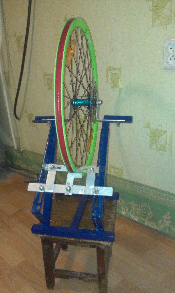 Велостанок для правки колес своими руками