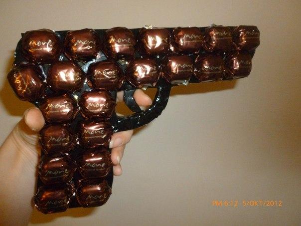 Как сделать гирю из конфет своими руками
