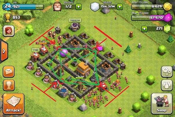 деревни в Clash Of Clans - фото 8