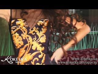 КОКЕТКА BOUTIQUE - платье - футляр с золотым принтом 7