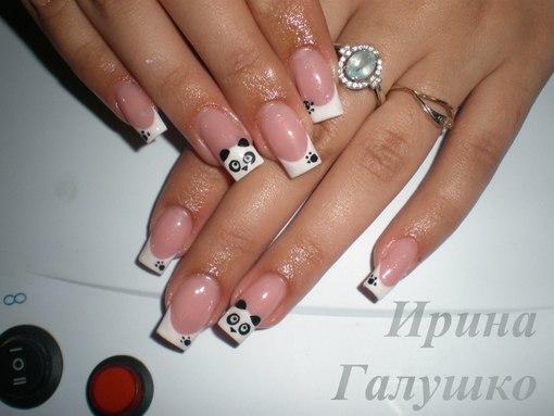 Дизайн нарощенных ногтей квадратной формы фото