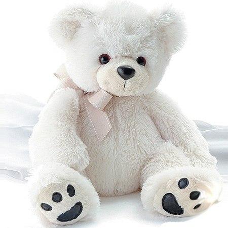 Мягкая игрушка - медведь белый.