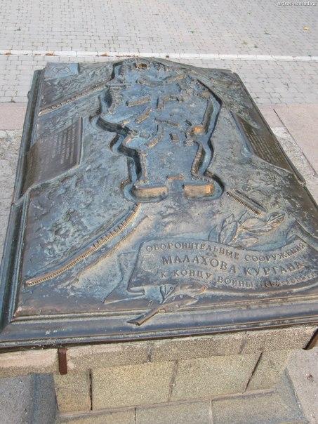 Карта укреплений Малахова кургана