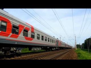 Электровоз ЧС2Т-970 с поездом №091 (Мурманск → Москва)